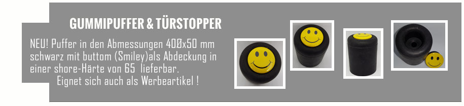 Türstopper, Gummipuffer mit Smiley